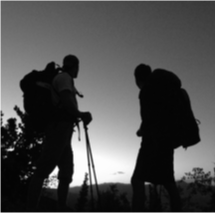 Picture of hikers in silhouette