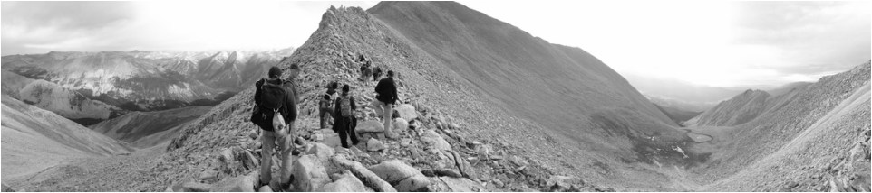 Picture of hikers on ridgeline