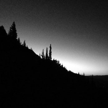 Picture of mountain in silhouette